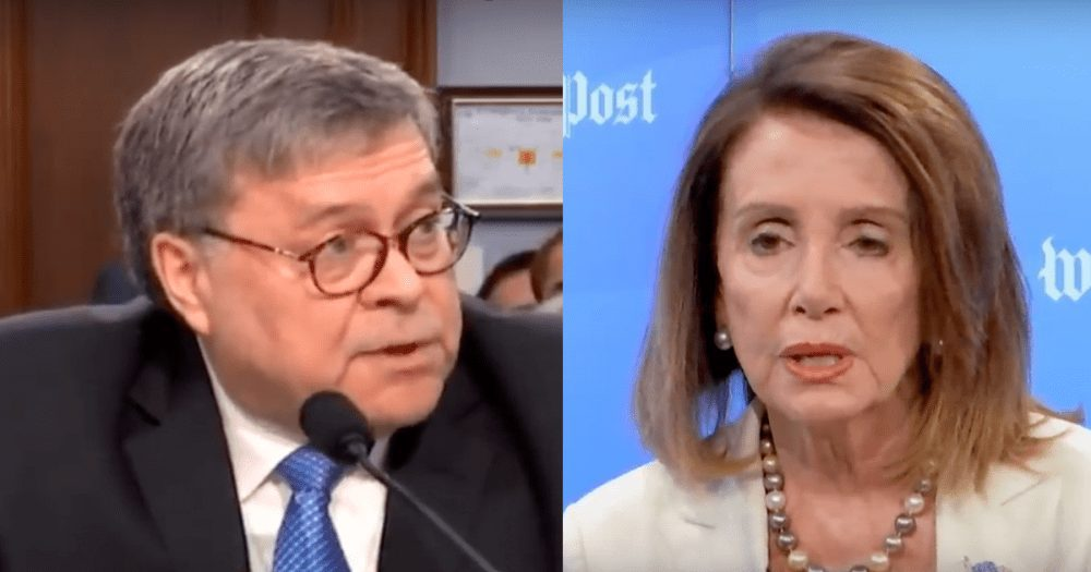 """WOW! Barr Taunts Pelosi at DC Event, Asks """"Did You Bring Your Handcuffs?"""""""