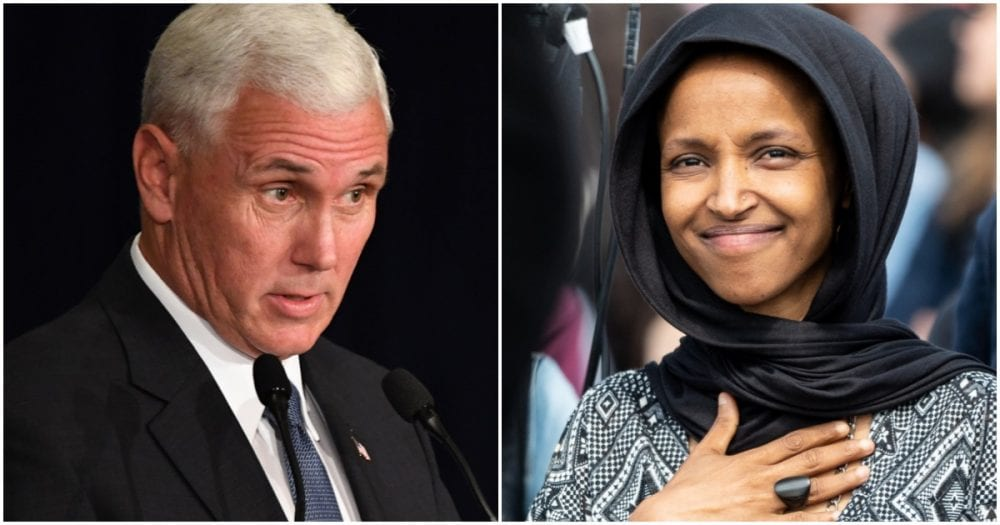 After Mike Pence UNLOADS On Democrat Ilhan Omar, She Fires Back With the Racism Card