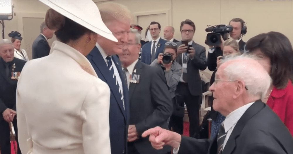 WATCH: Fun Moment as 93-Year-Old WWII Vet Flirts with Melania