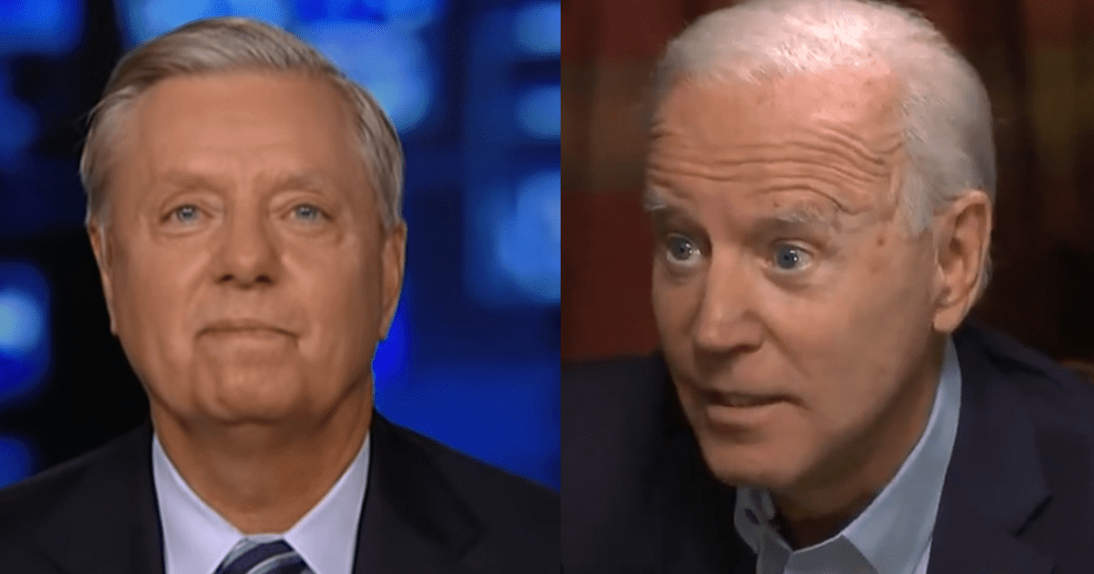 """VIDEO: Biden Says Graham Will Regret Investigating Him and Hunter """"His Whole Life"""""""
