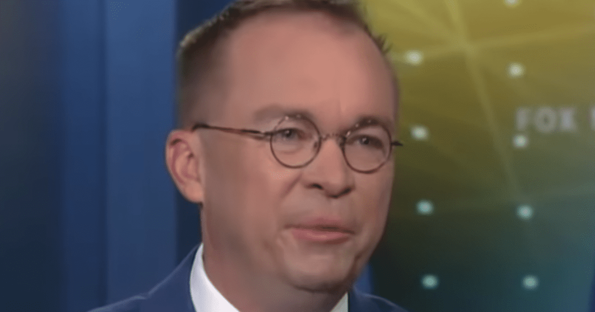 """Mick Mulvaney Attacked on Twitter for Wearing Patriotic """"Stars and Stripes"""" Shirt"""