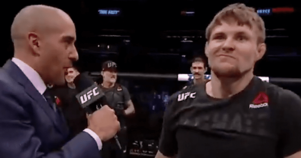 "VIDEO: UFC Fighter Offers to ""Help"" Trump With ""Whoopin"" After Big Win"