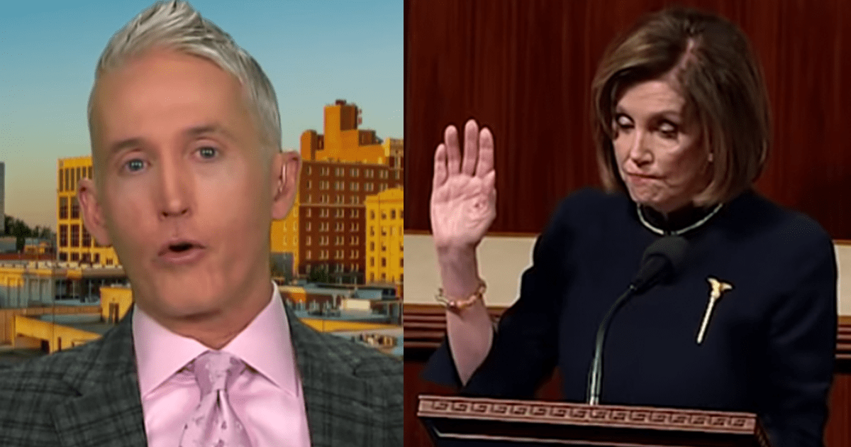 "Gowdy Blasts Pelosi for Delaying Tactic, Says ""most people are smart enough to see through that"""