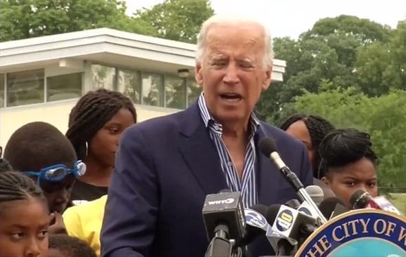 joe biden appeared to go off script with a confusing ramble about working at a swimming pool