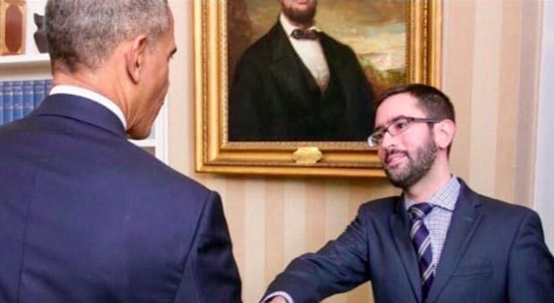 the new york post has published the identity of suspected whistleblower eric ciaramella pictured here with obama