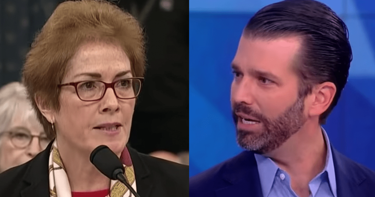 """BREAKING: Don Jr. Accuses Marie Yovanovitch of """"Monitoring"""" Him"""