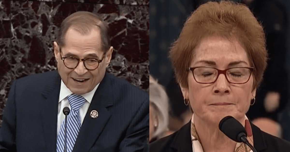 """WATCH: Nadler Claims Trump's """"Scheme"""" to Cheat in the 2020 Election Involved Getting Yovanovitch Out of the Way"""