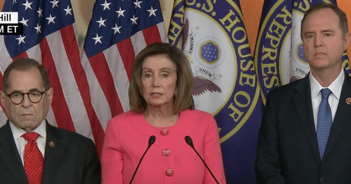 """BREAKING: Pelosi Names Her Seven """"Impeachment Managers"""""""