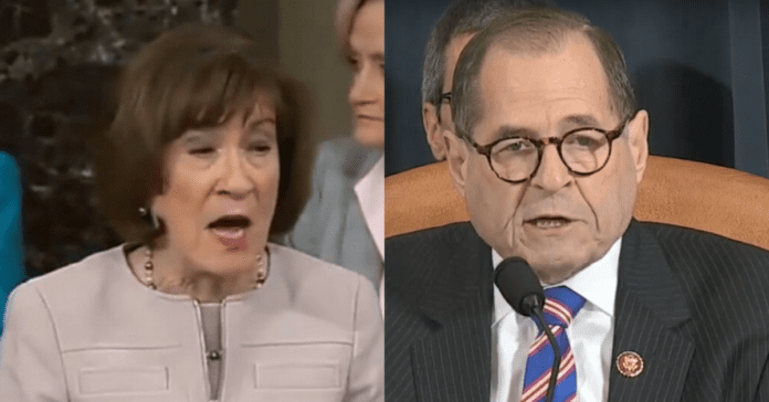 Dems Suffer Blow As Susan Collins Sends Note To John Roberts Complaining About Jerry Nadler's Rude Behavior
