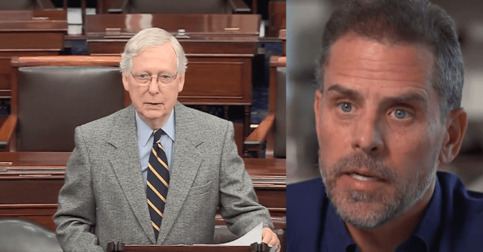 Mitch McConnell Finally Plays Hardball, May Subpoena Hunter Biden To Teach Dems A Lesson They Will Never Forget