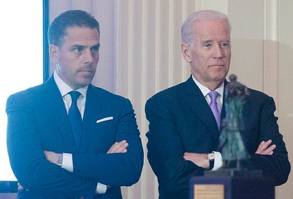 joe and hunter biden have been at the heart of the ukraine corruption scandal central to the impeachment case
