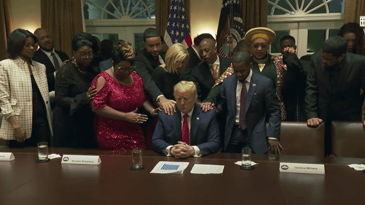 WATCH: Black Leaders Pray for Trump at Black History Month Celebration