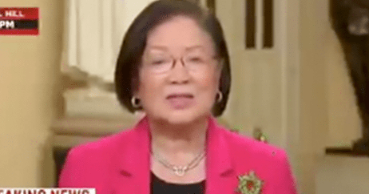 "WATCH: Hirono ""I don't care what kind of nice, little, legal, Constitutional defenses that they came up with"""
