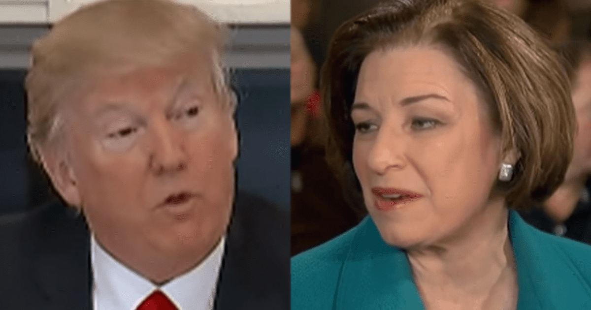 "WATCH: Klobuchar Claims Supporters of Trump fail a ""Patriotism Check"" and ""Decency Check"""