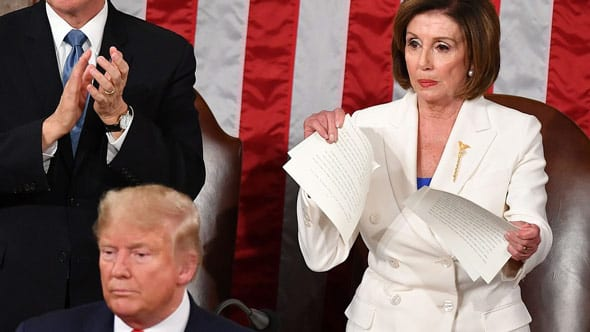 pelosi has been widely criticized for ripping up a copy of president trump s sotu speech