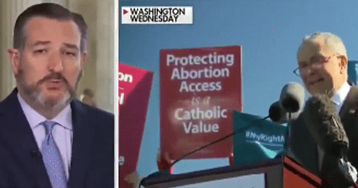 """WATCH: Ted Cruz """"Chuck Schumer MUST be censured for threatening Justices"""""""