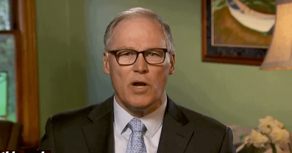"""WATCH: Inslee Accuses Trump of urging  """"insubordination"""" and """"illegal activity"""" by supporting protesters"""