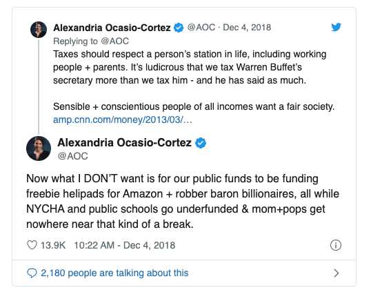 """AOC Challenger """"If she really cared, she wouldn't drive away 25,000 jobs like she did"""""""