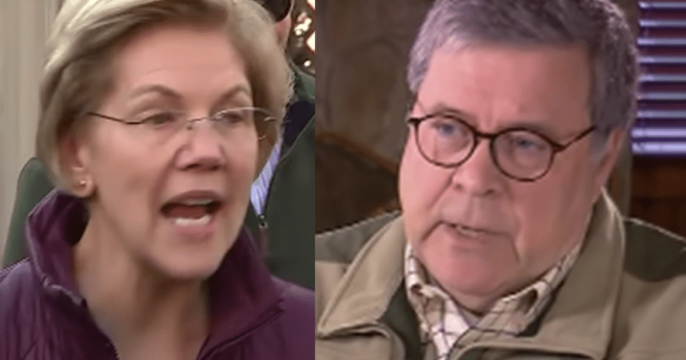 "Elizabeth Warren Demands ""Blatantly Corrupt"" AG Barr ""Resign ..."
