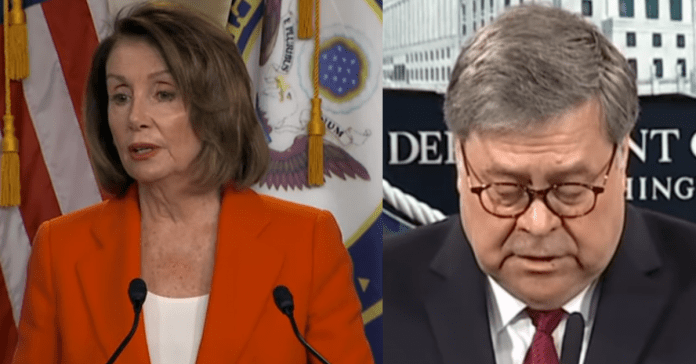 Nancy Pelosi Accuses Bill Barr of Covering Up For Trump In Angry Statement On Flynn Case