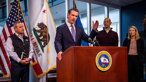 gov newsom warned california will not return to normal until a vaccine is developed and available