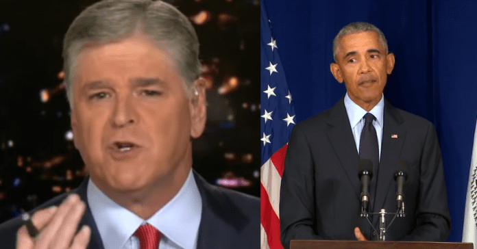"""Sean Hannity Accuses Obama of Spreading """"Truly Disgusting and Dishonest Lie"""" To Cover For Biden"""