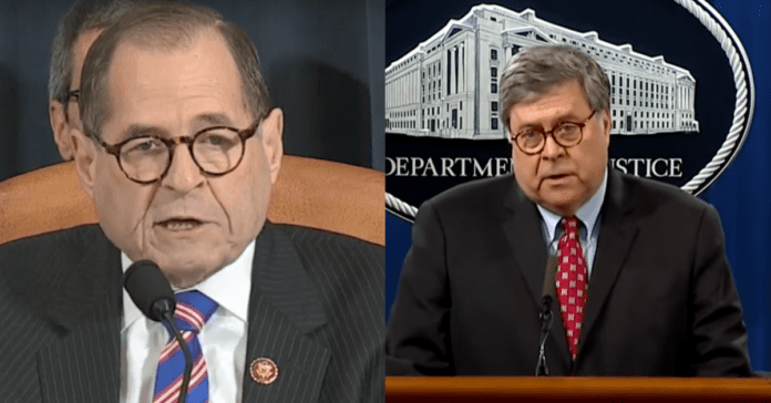 Jerry Nadler Throws Temper Tantrum, Tries To Strip Bill Barr's DOJ Funding After Barr Told Jerry To Go Pound sand