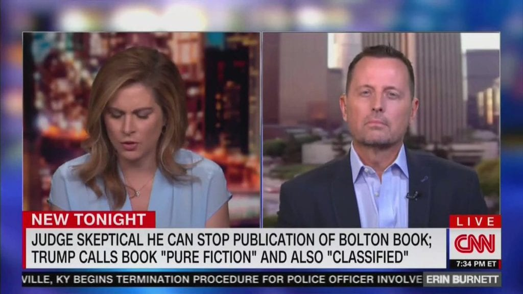 Watch: CNN's Erin Burnett Can't Handle The Truth, Gets So Flustered With Grenell She Lies & Terminates Interview