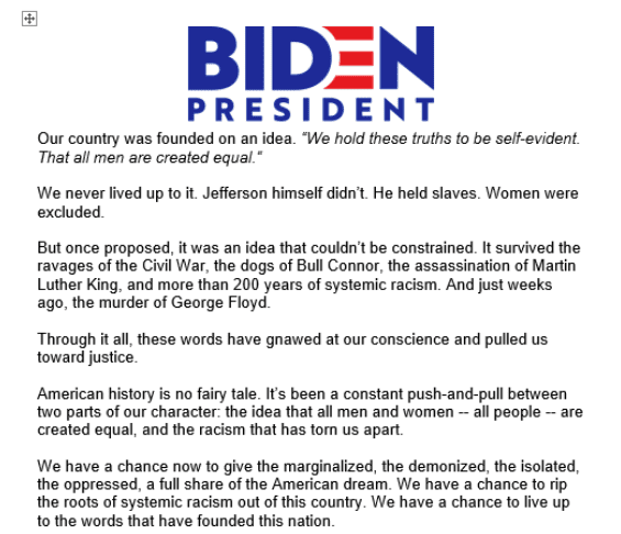 """Newt accuses Biden of possibly """"the most anti-American speech ever given by an American presidential candidate"""""""