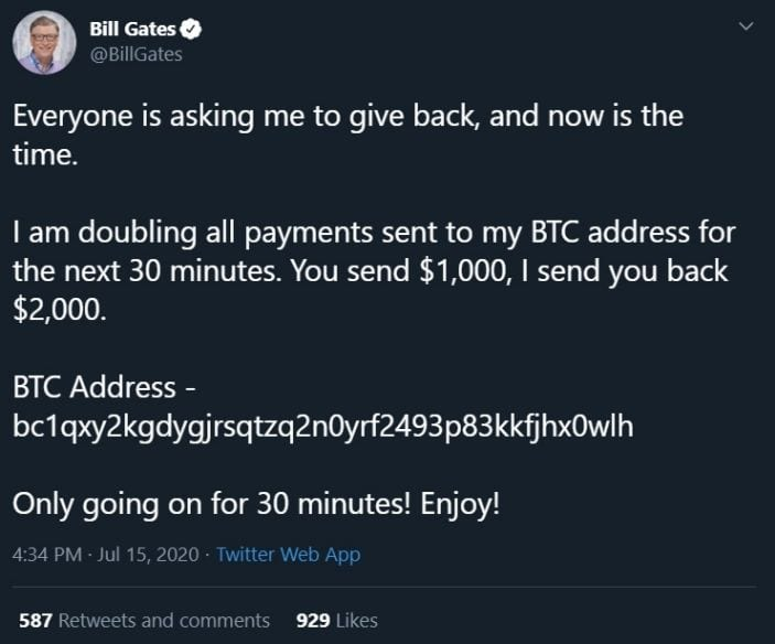 Crypto scammers hack Twitter accounts of Biden, Obama, Bill Gates, Jeff Bezos, Kanye and Many More