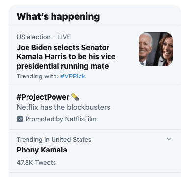 """""""Phony Kamala"""" is Trending on Twitter After Trump Pushes New Nickname"""