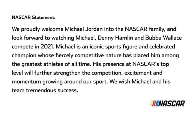 Bubba Wallace signs deal to be a driver for a new NASCAR team owned by Michael Jordan