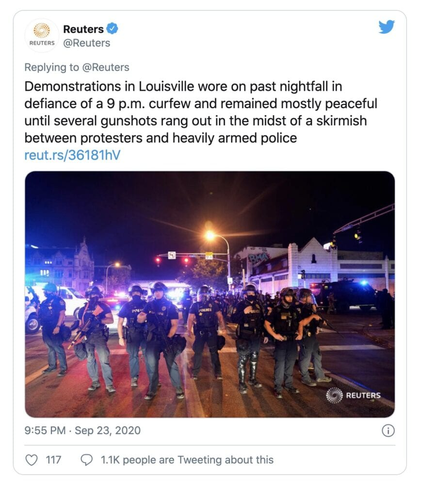 This has to be the WORST headline of the night on the riots in Louisville
