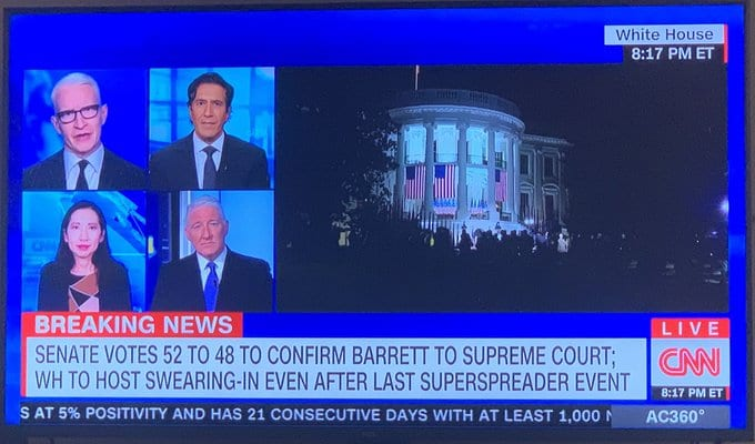 CNN Reacts to Judge Amy Coney Barrett Being Confirmed to the Supreme Court