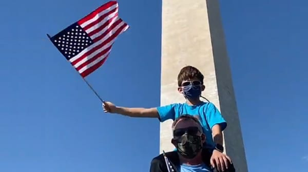 'You don't see THIS everyday': Trump supporters by the HUNDREDS march through D.C., Dan Crenshaw speaks, Joy Villa and more