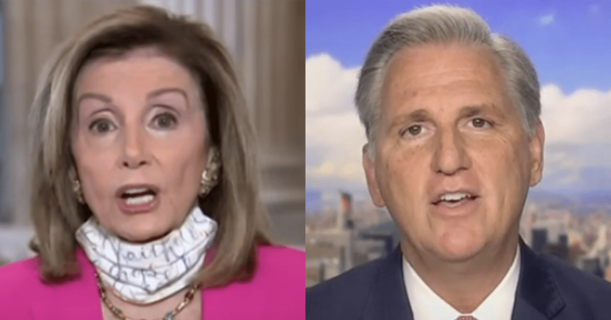 """McCarthy reacts to House passing Biden's $1.9 trillion bill, says """"call it what it is, the Pelosi Payoff"""""""