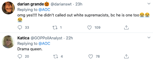"AOC declares ""Trump is a white supremacist"" warns ""this is fascism at our door"""