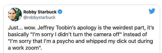 Conservatives react to Toobin's embarrassing Zoom incident that got him suspended from the New Yorker