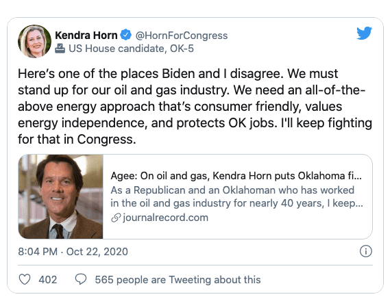"""Oklahoma Democrat counters Biden """"We must stand up for our oil and gas industry"""""""