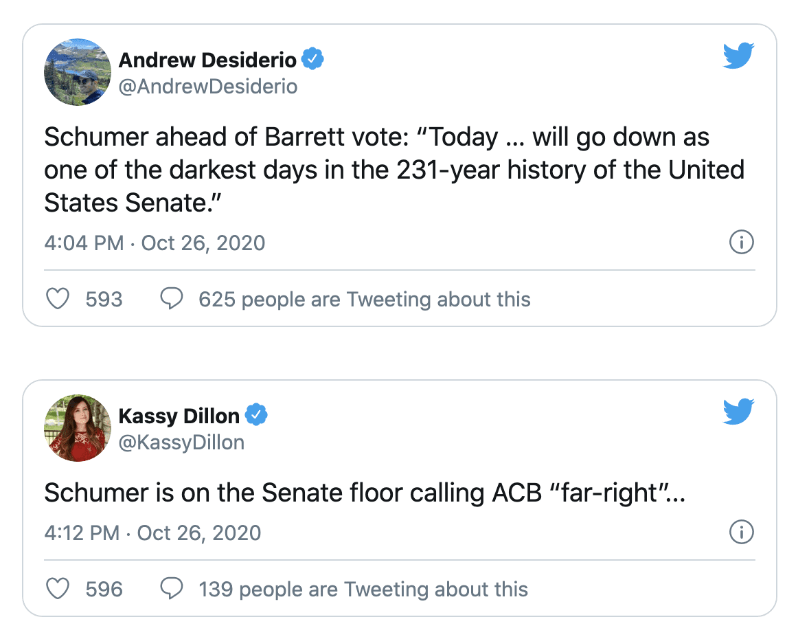 """Schumer says today """"will go down as one of the darkest days in the 231-year history of the"""" Senate"""