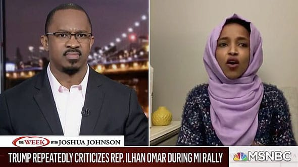 ilhan omar attacked president trump during an interview on msnbc