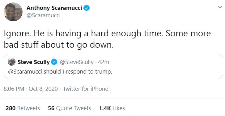 Debate moderator Steve Scully caught asking Trump enemy Scaramucci for advice on dealing with Trump!