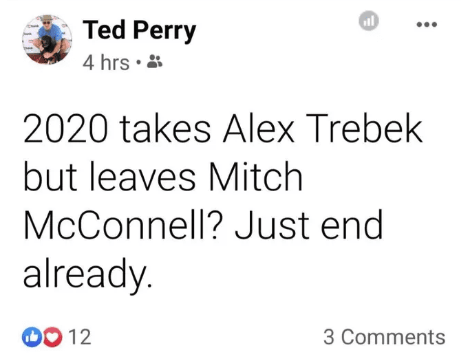 Milwaukee anchor suspended after asking why 2020 took Trebek, not McConnell