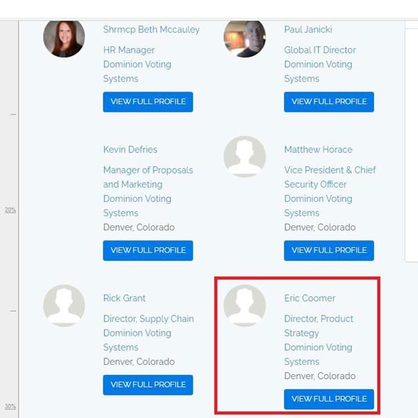 eric coomer s profile as director at dominion voting systems was recently scrubbed from their website
