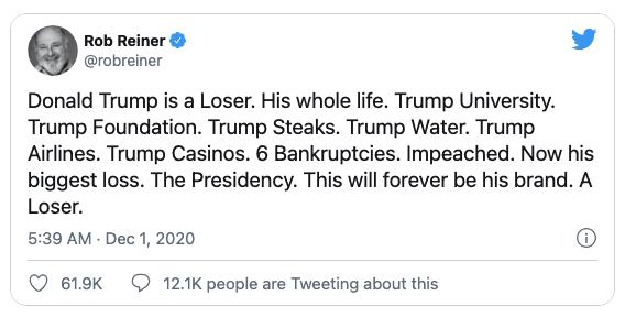 """Rob Reiner """"The survival of our Democracy demands"""" Trump's family """"be prosecuted"""""""