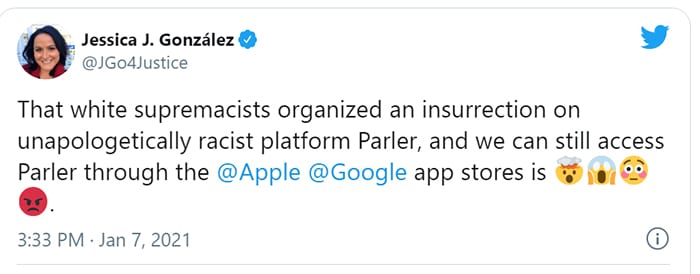 BIG TECH PURGE: Apple threatens to ban PARLER unless they agree to CENSORSHIP dictated by LEFT WING ACTIVIST GROUP