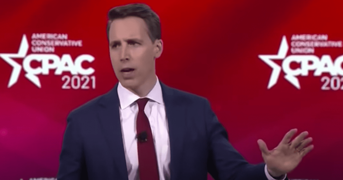 """WATCH: Hawley says """"they tried to cancel me and shut me down, but I'm not going anywhere"""""""