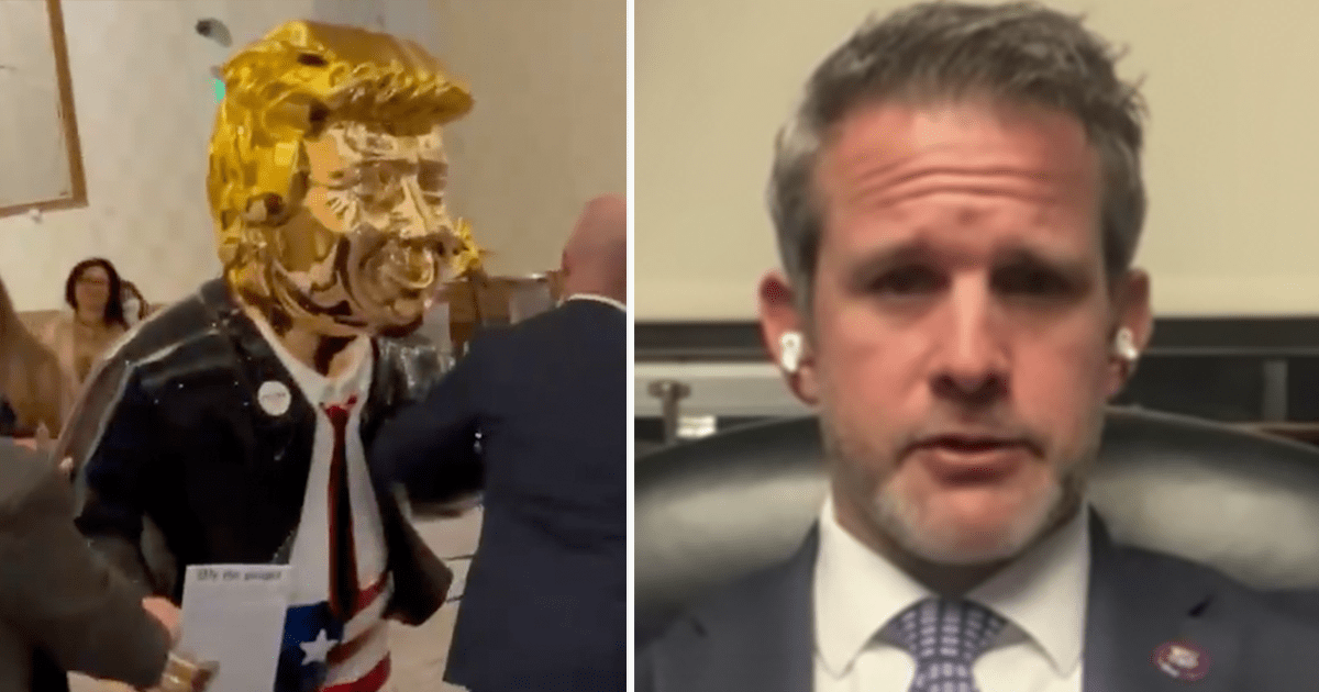 Kinzinger, Democrats mock and fume over Golden Trump Statue at CPAC