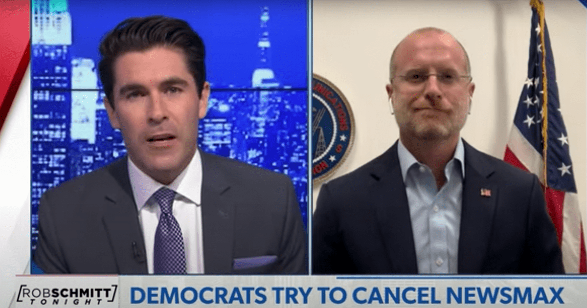 """WATCH: FCC Commissioner reacts to Dem efforts to """"cancel"""" Newsmax"""