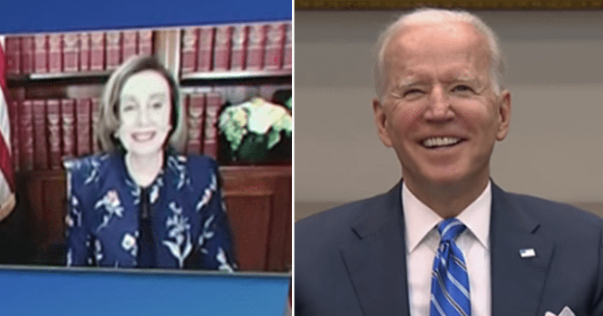 """WATCH: Biden tells Pelosi """"I admire the devil out of you"""" after telling her """"Nancy, I love you. There's no one I'd rather work with than you"""""""